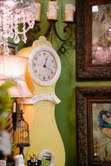Yellow Grandfather clock
