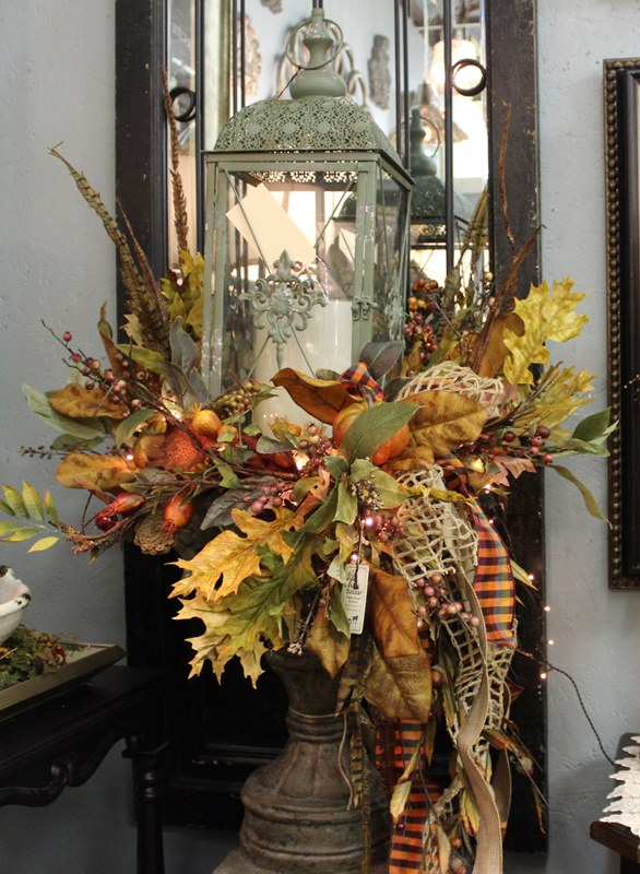 fall arrangement in urn